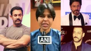 Haji Ali row: Trupti Desai seeks support of Shahrukh Khan, Salman Khan and Aamir Khan
