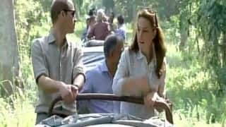 Watch: Prince William and Kate Middleton spot rhino on their Kaziranga National Park ride!
