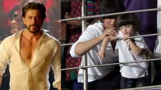 Here's what happened when Shah Rukh Khan asked his adorable son AbRam to flaunt his six-pack abs