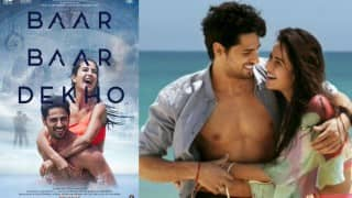 Baar Baar Dekho poster OUT: Sidharth Malhotra and Katrina Kaif's chemistry is too hot to handle!