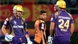 KKR won by 8 wkts | LIVE Score Sunrisers Hyderabad (SRH) vs Kolkata Knight Riders (KKR) IPL 2016 Match 8: KKR 146/2 in 18.2 Overs (Target 143)