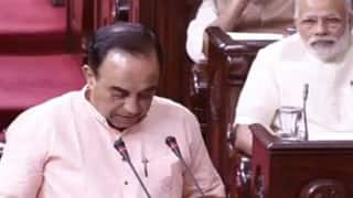 Subramanian Swamy in Rajya Sabha: Demands debate on Agusta Westland scam involving senior Congress leaders