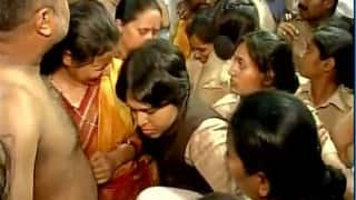 Trupti Desai attacked by women as she attempted to enter inner sanctum of Kolhapur's Mahalaxmi temple (Watch Video)