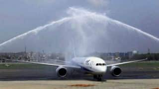 Mumbai airport cancels water canon salute for Etihad Airbus A-380 in drought-hit Maharshtra