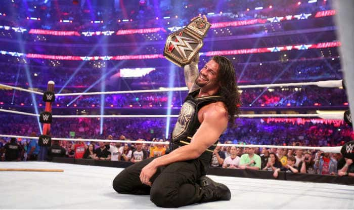 Image result for roman reigns wwe champion wrestlemania