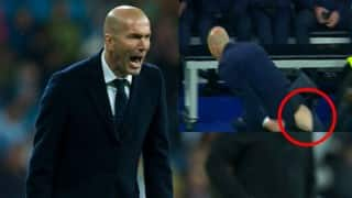 WATCH- When Zinedine Zidane ripped his pants during Real Madrid vs Wolfsburg