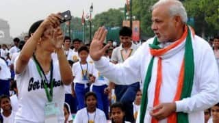 International Yoga Day venue to ban cell-phones but have a Selfie Zone specially for Modi!