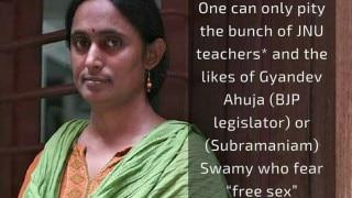 Mother of Kavita Krishnan on Facebook said she had 'free sex'. Shuts the troll like a pro!