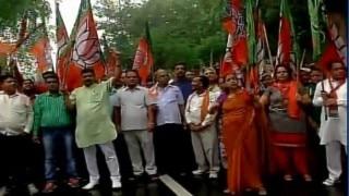 Batla encounter row: BJP stages protest, accuses Congress of propagating false sentiments