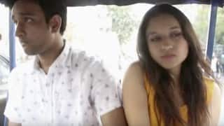 A man kept harassing a girl in the auto rickshaw. What do you think happens next?