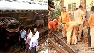 Mumbai: Western line affected as empty coach derails between Elphinstone and Lower Parel