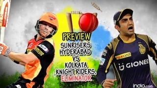 Preview, Sunrisers Hyderabad (SRH) vs Kolkata Knight Riders (KKR) IPL 2016 Eliminator: Sunrisers look to pip favourites KKR