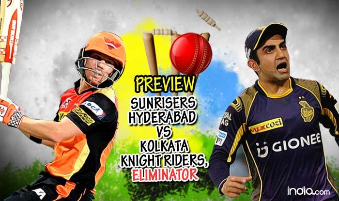 Preview Sunrisers Hyderabad Srh Vs Kolkata Knight Riders Kkr Ipl  Eliminator Sunrisers Look To Pip Favourites Kkr
