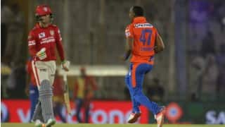 KXIP beat by 23 runs | LIVE Score Gujarat Lions (GL) vs Kings XI Punjab (KXIP) IPL 2016 Match 28: GL 131/9 in 20 Overs (Target 155)