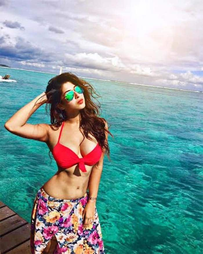 Sonarika Bhadoria bikini pictures go viral on the Internet