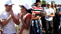 Must watch: Aamir Khan visits Maharashtra's Amravati for drought relief; contributes in water project (Video)