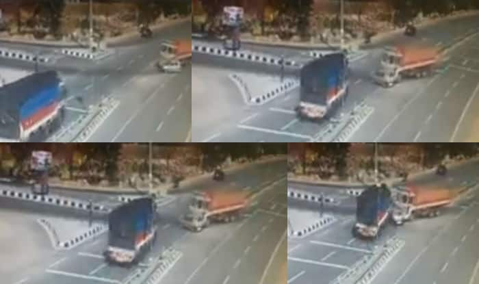 Telangana: Trucks sandwiches car in Nizamabad, kills 5 people instantly (Watch Video)