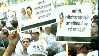 AgustaWestland chopper scam: AAP hold rallies against 'BJP-Congress corruption alliance', over 300 detained