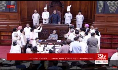 Congress creates storm in Parliament over Narendra Modi