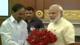 K Chandrasekhar Rao meets Narendra Modi, seeks more funds for drought relief