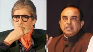 Congress move to corner Amitabh Bachchan 'utter hypocrisy': Subramanian Swamy