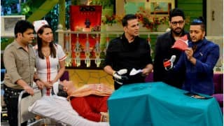 Housefull 3: Akshay Kumar, Riteish Deshmukh, Abhishek Bachchan on the sets of The Kapil Sharma Show