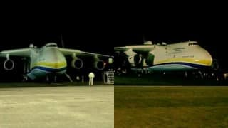 Antonov 225 Mriya: World's largest cargo plane lands in Hyderabad