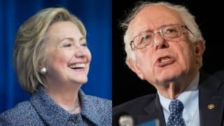 Hillary Clinton, Bernie Sanders share honours in Democratic primary battle