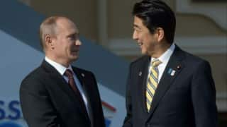 Japanese PM Shinzo Abe visits Vladimir Putin looking to warm ties