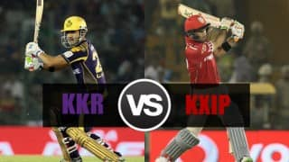 KKR beat KXIP by 7 runs | LIVE Score Kolkata Knight Riders (KKR) vs Kings XI Punjab (KXIP) IPL 2016 Match 32: KXIP 157/9 in 20 Overs (Target 165)