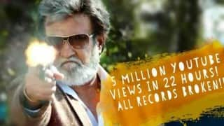Rajinikanth's Kabali teaser crosses 5 million views on YouTube! Watch it here!