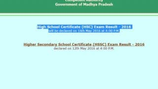 Mpresults.nic.in MP class 10 Board Exam Results 2016 to be declared tomorrow: How to check MP HSC Exam Results on mpresults.nic.in at 4 pm