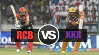 KKR beat RCB by 5 wkts   LIVE Score Royal Challengers Bangalore (RCB) vs Kolkata Knight Riders (KKR) IPL 2016 Match 30: KKR 189/5 in 19.1 Overs (Target 186)