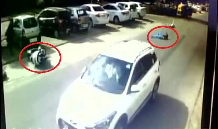 Caught on Camera: CCTV captures horrific road accident in Ahmedabad ...