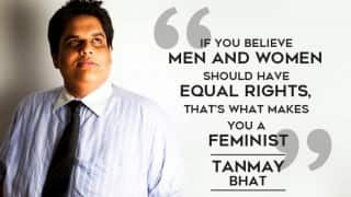 AIB's Tanmay Bhat, tired of feminism turning into a bad word, rants about anti-feminism! (Watch Video)