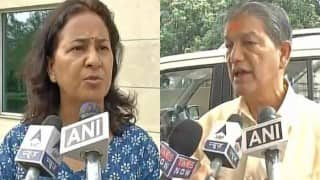 BJP MP Tarun Vijay's wife slams Harish Rawat government, accuses lack of security arrangement for attack