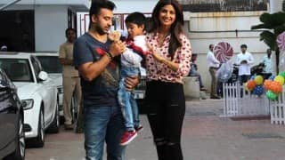 Aishwarya Rai Bachchan with Aaradhya, Riteish Deshmukh with Riaan: Starkids at Shilpa Shetty's son Viaan's birthday party