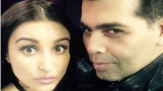 When Parineeti Chopra visited Karan Johar on 'India`s Got Talent' set