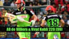 RCB vs GL, IPL 2016: Here is the list of records created by AB de Villiers and Virat Kohli