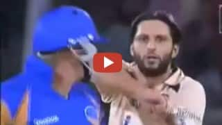 When Shahid Afridi sledged Shane Warne during IPL cricket match