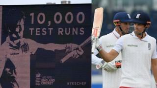 Alastair Cook becomes youngest batsman to score 10,000 Test runs, breaks Sachin Tendulkar's record