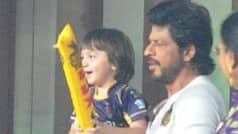 Shah Rukh Khan and son AbRam show up at KKR vs KXIP, IPL 2016 match, view pics