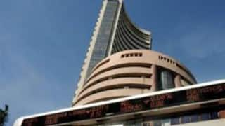 Sensex soars 287 pts, brings up best weekly show in 3 months
