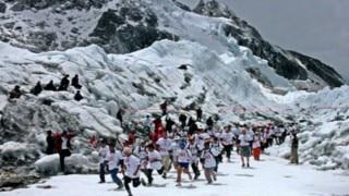 Nepalese soldier wins world's highest marathon on Mount Everest