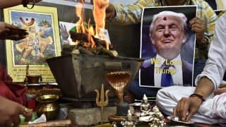 Hindu Sena Prays in New Delhi for Donald Trump Win, Believes He Can Save Humanity