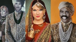 Indo-Canadian woman photoshops western celebrites into Indian dresses to fight fashion hypocrites