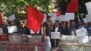 Kashmiris protest in London against alleged Pakistani rights abuse