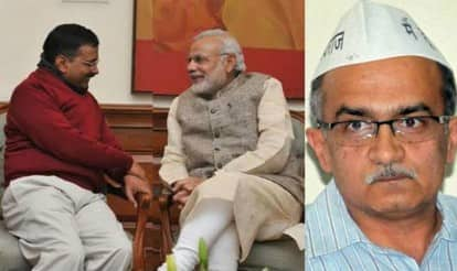 Arvind Kejriwal can even join hands with Narendra Modi if it suits him: Prashant Bhushan