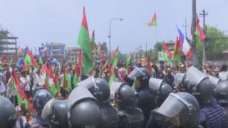 Protest in Kathmandu turns violent, three protestors injured in scuffle