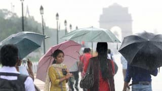 Delhi wakes to cool morning after rain, thunderstorm bring down mercury